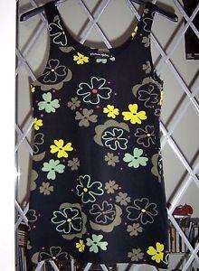 NWOT-Gudrun-Sjoden-Grace-flower-print-stretch-cotton-vest-figure-fit-S-M-8-10