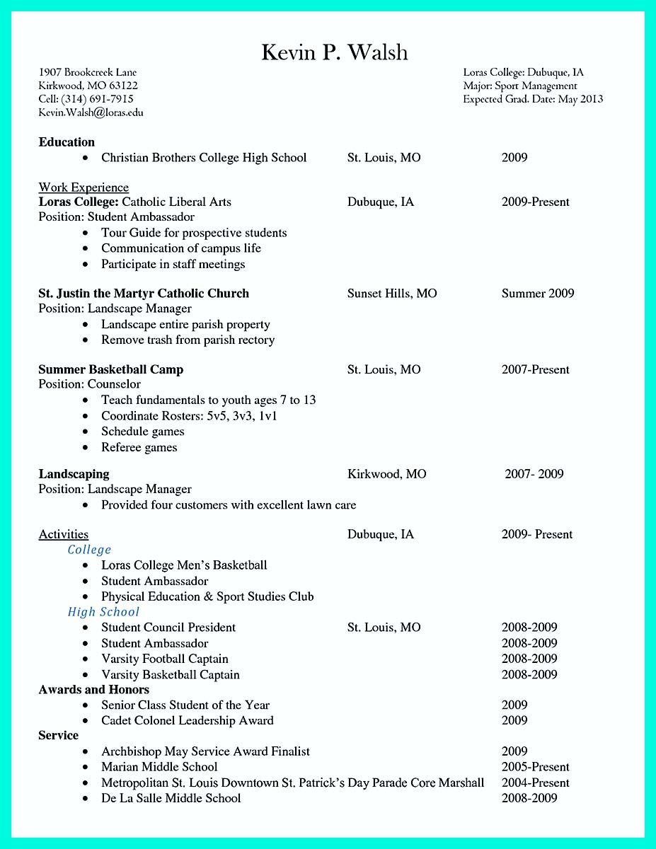 how long should a college resume be