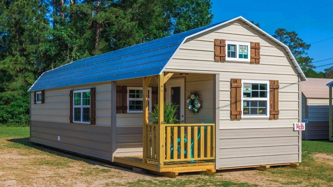 Incredibly Beautiful Shed Cabin Has It All For Sale Youtube In 2020 Shed Cabin Tiny House Big Living Tiny Houses For Sale