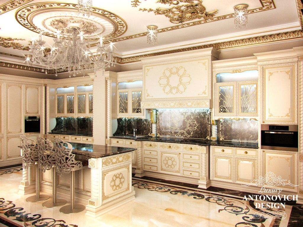 Antonovich design kitchen recherche google bigger for Luxury kitchen layout