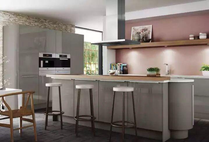 Pink Grey Kitchen Cheap Kitchen Decor Grey Kitchen Inspiration Kitchen Decor