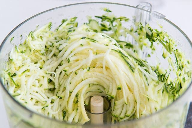 Zucchini Fritters - Shredded in the food processor   Food ...