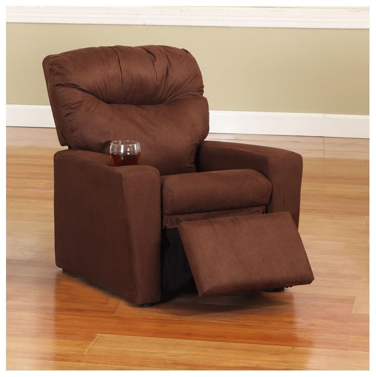 Dark Brown Microfiber Childrens Recliner Chair With Cup Holder & Kidu0027s Recliner | For the kiddos... | Pinterest | Recliner and Kids s islam-shia.org
