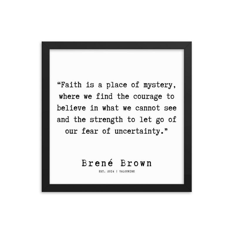 59 | Framed Poster | Brene Brown Quotes  | 191219 Typewriter #philosophicalquotes