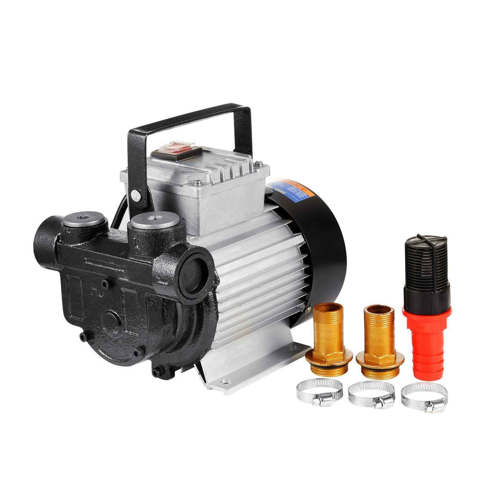 vevor 110v fuel oil transfer pump ac 16gpm self priming electric