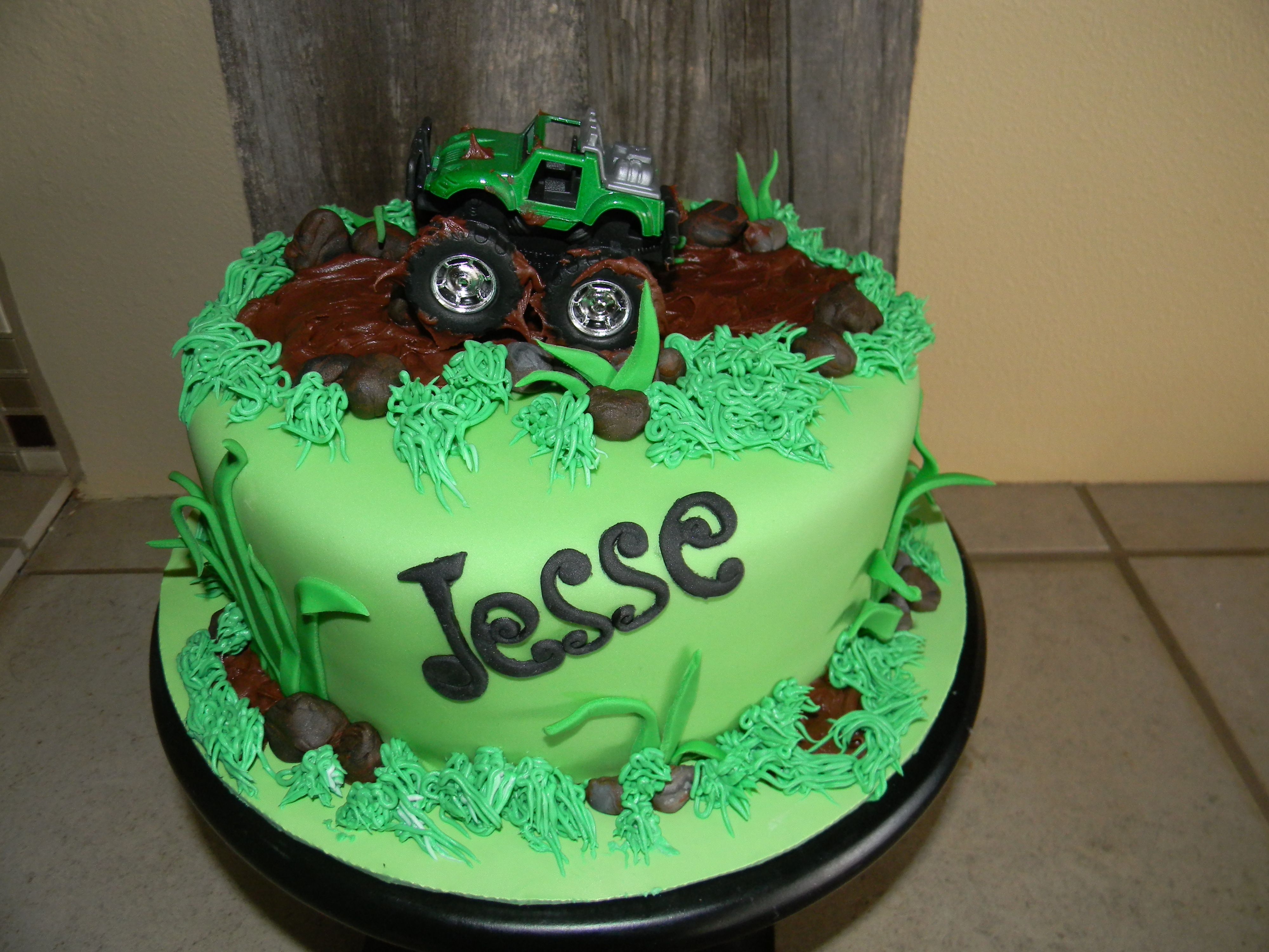 Lol What An Awesome Birthday Cake Mud Bog For The Kids