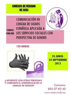 Curso On-Line: Comunicación en Lengua de Signos Española aplicada a los Servicios Sociales con perspectiva de género.
