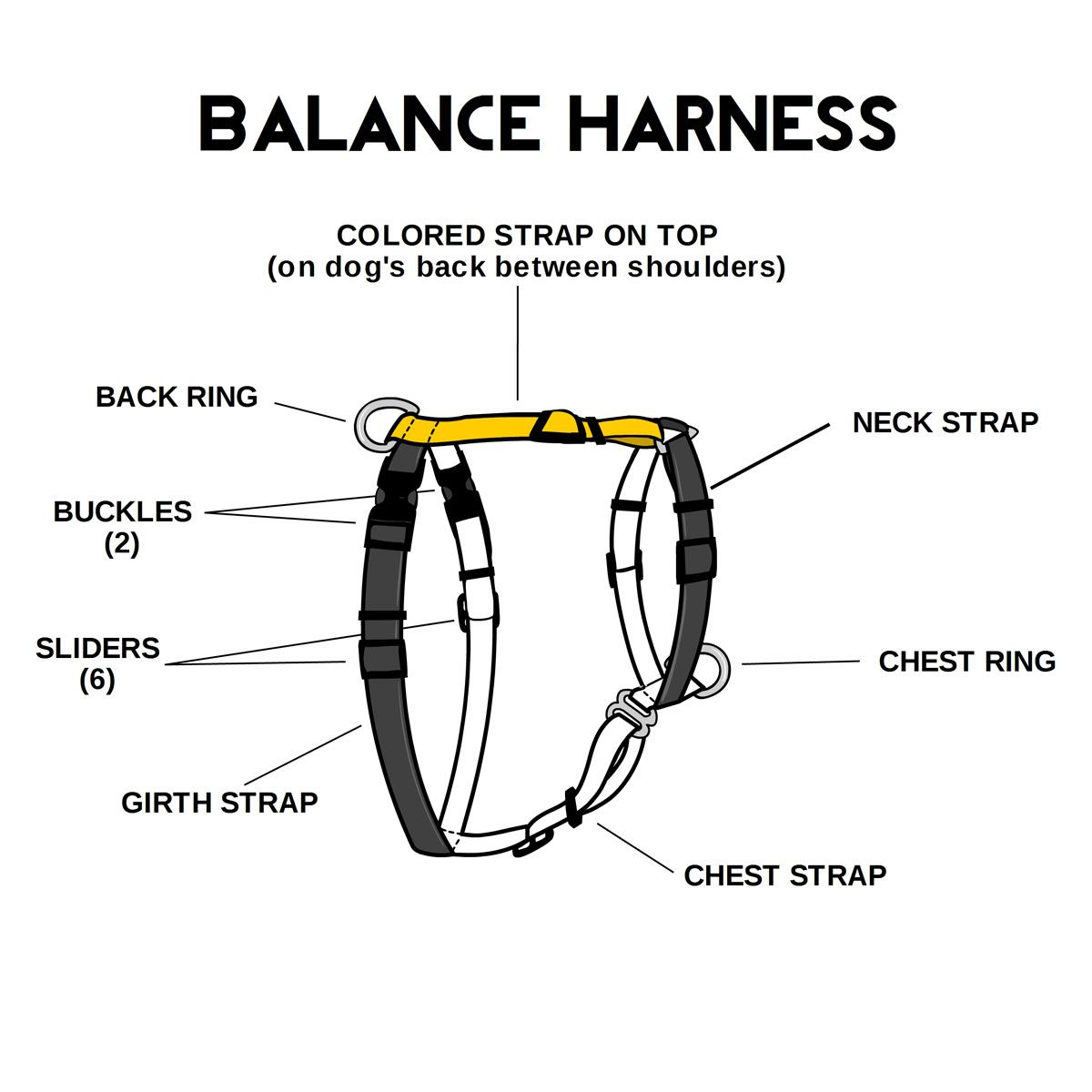 Diagram Of Balance Harness Harness Dog Harness Dog Equipment