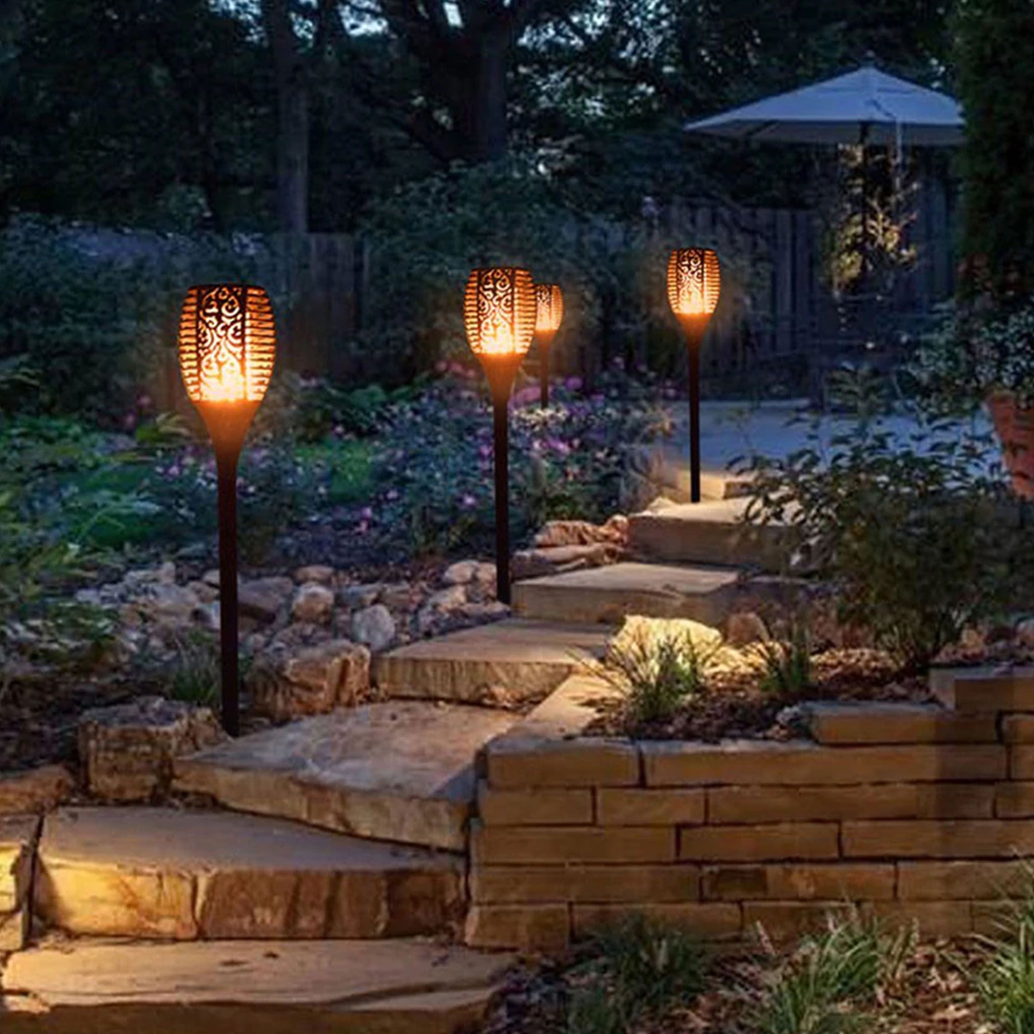 Dancing Flame Solar Torch 50 Off Solar Lights Garden Outdoor Solar Outdoor Solar Lights