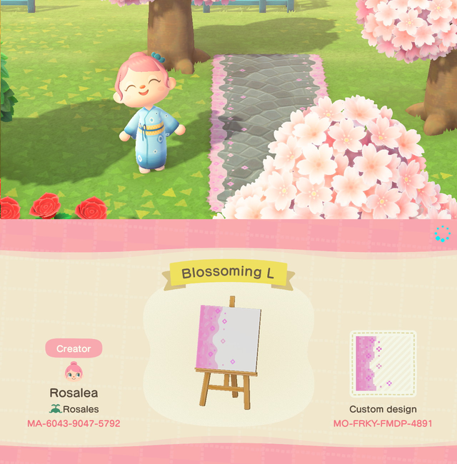 Cherry Blossom Borders Search Ma For L R Pieces Acqr Animal Crossing New Animal Crossing Animal Crossing Qr