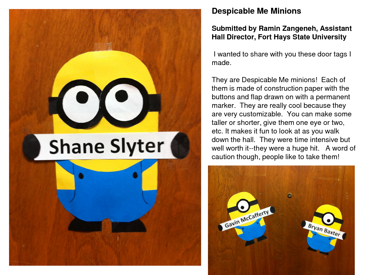 Cartoon classroom door - How To Make The Despicable Me Minions Door Tags Despicable Me Minions Submitted By Ramin