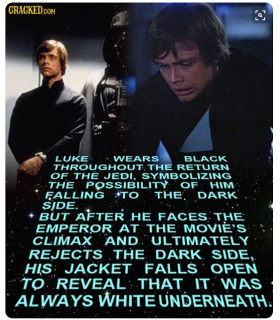 Luke Skywalker Symbolism In Return Of The Jedi Star Wars Star Wars
