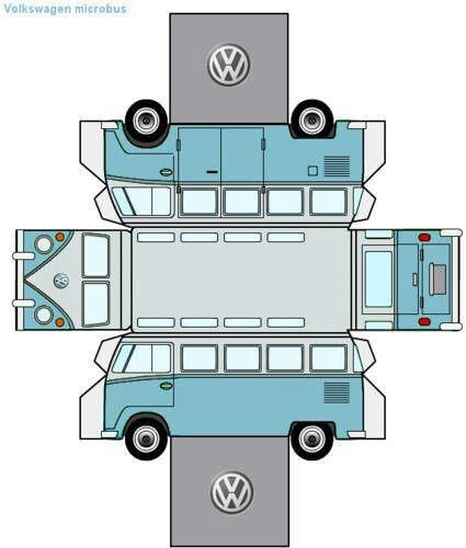 Vw Bus Bastelanleitung Basteln Anleitung Basteln Diy Geschenke Basteln