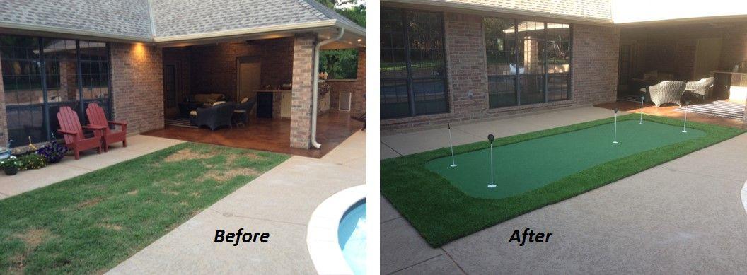 Do it yourself putting greens green backyard putting