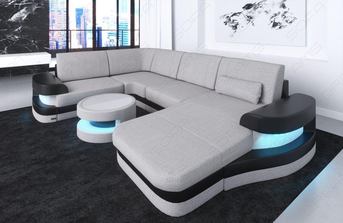 Modern Fabric Sofa Tampa U Shape LED in 2019   living room   Modern ...