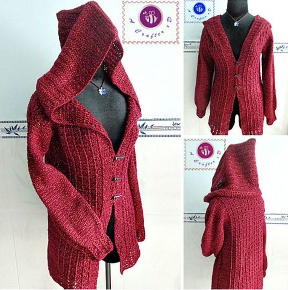 Crochet Hooded Jacket Pattern Free Video Tutorial | Hooded ...