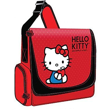 279589c4b8 Hello Kitty Vertical Messenger Style Laptop CaseThe Hello Kitty Vertical  Messenger Style Laptop Case (Red) accommodates laptops with up to 12 inch  scre