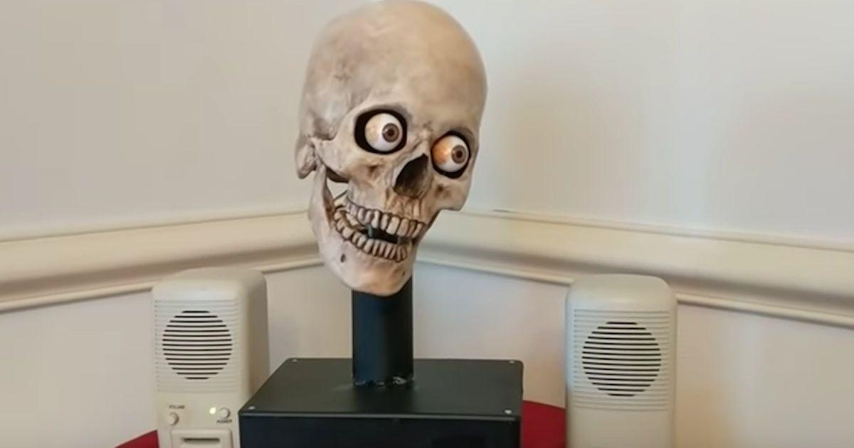 Man uses leftover Halloween decorations to make his Amazon Echo even creepier.