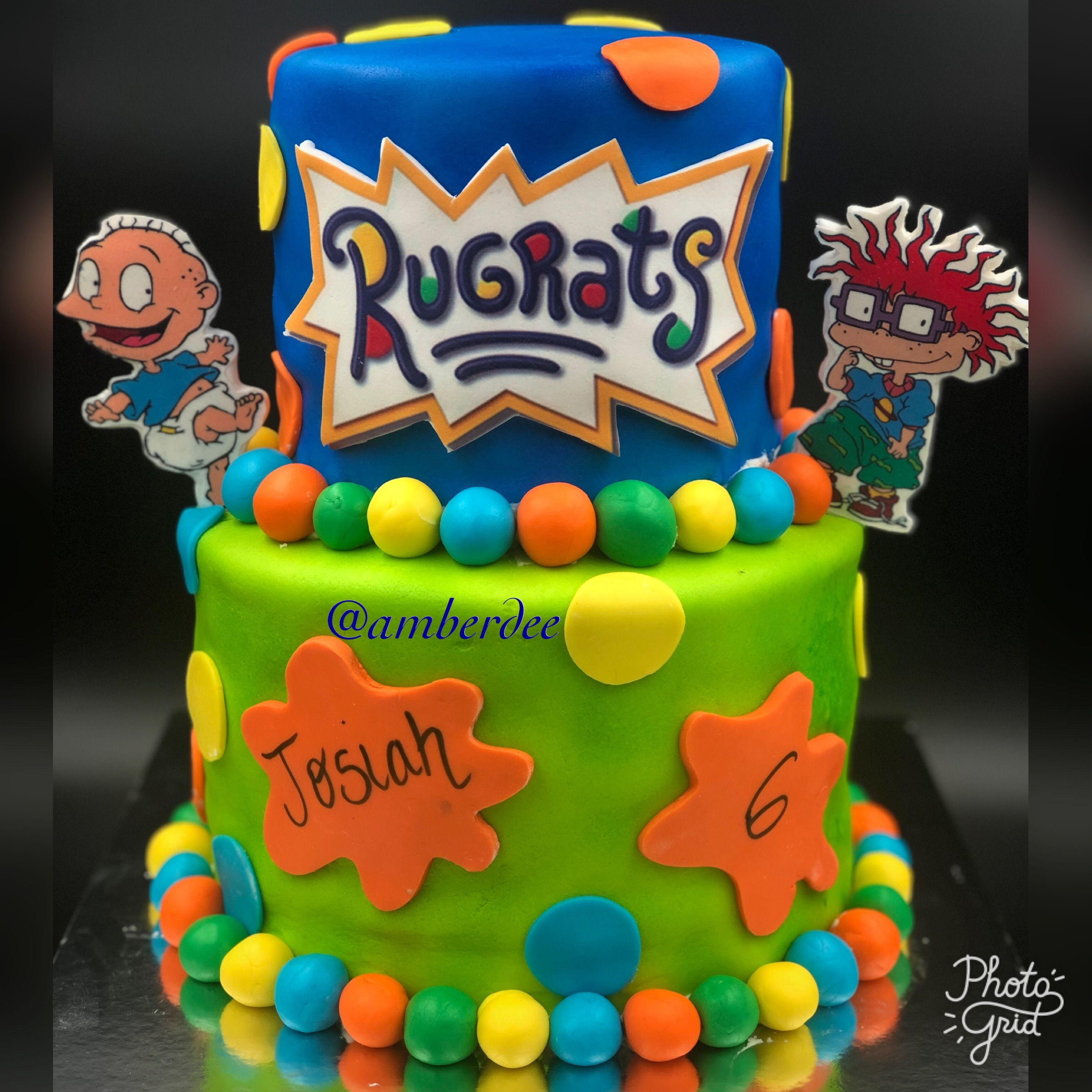 Cool Rugrats Two Tier Cake With Images 1St Birthday Party Themes Funny Birthday Cards Online Necthendildamsfinfo