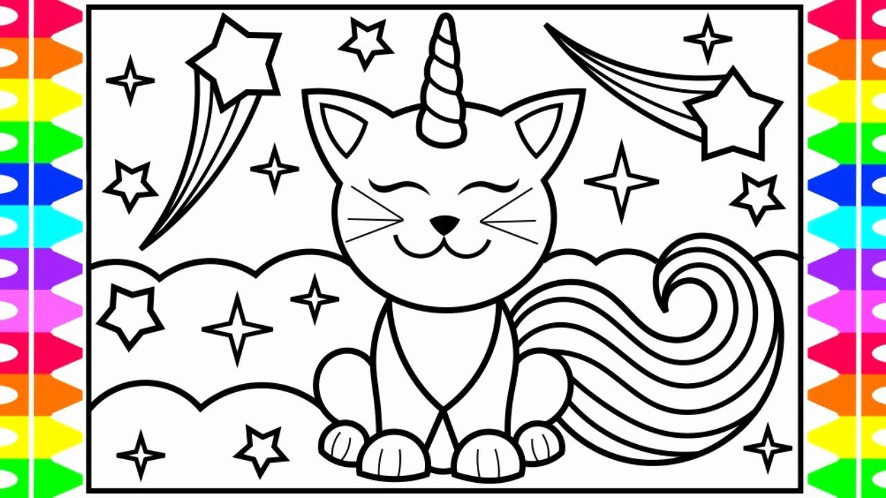 Printable Coloring Pictures For Kids Beautiful How To Draw A Caticorn For Kids Cat Elmo Coloring Pages Unicorn Coloring Pages Coloring Pages For Kids