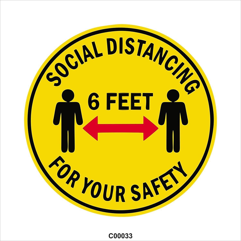 Floor decals social distancing stickers floor graphic 6
