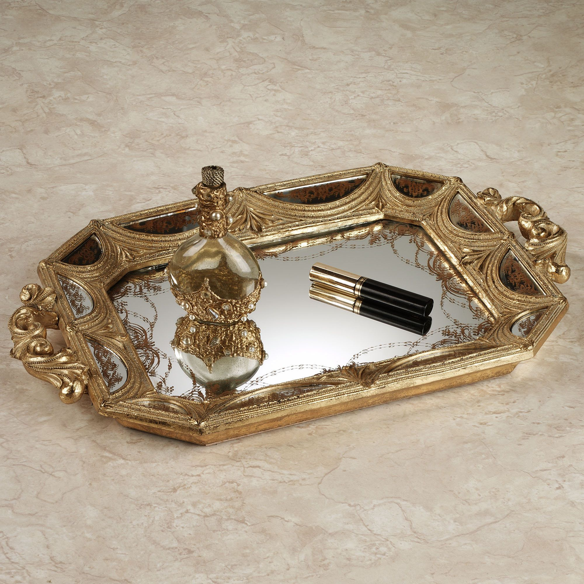 hrcouncil trays new perfume mirrored vanity ebay tray info