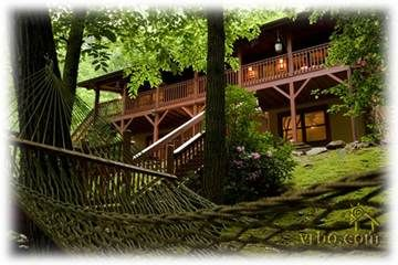 Real Rustic Log Cabin   The Moose Creek Lodge Sylva, North Carolina  Vacation Rental By