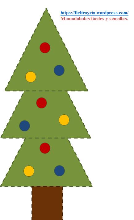DIY navideñas: Plantillas para hacer adornos con fieltro   Plantilla ...