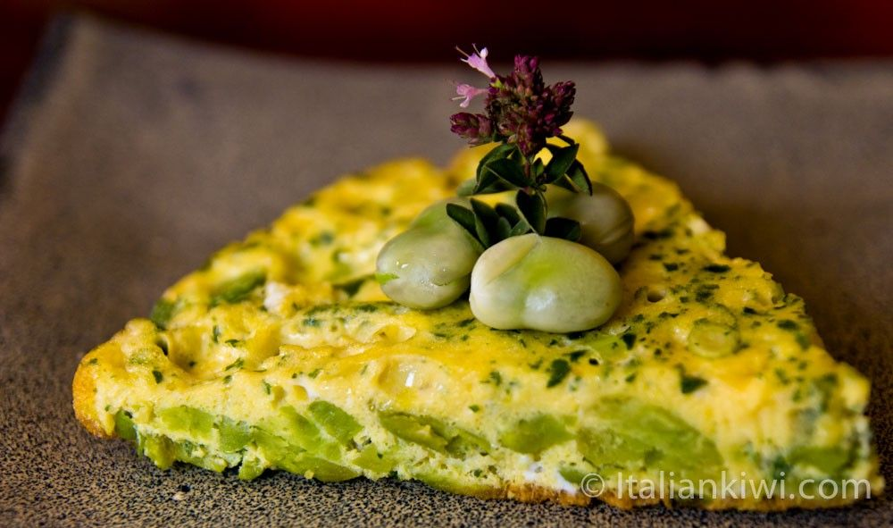 This frittata made with fava beans and spring onions is full of the joys of Spring!