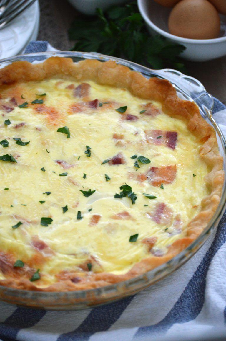 Bacon Swiss Quiche Recipe Quiche recipes, Recipes, Food