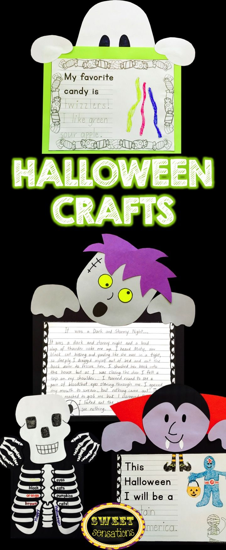 halloween crafts vampire zombie ghost and skeleton skeletons