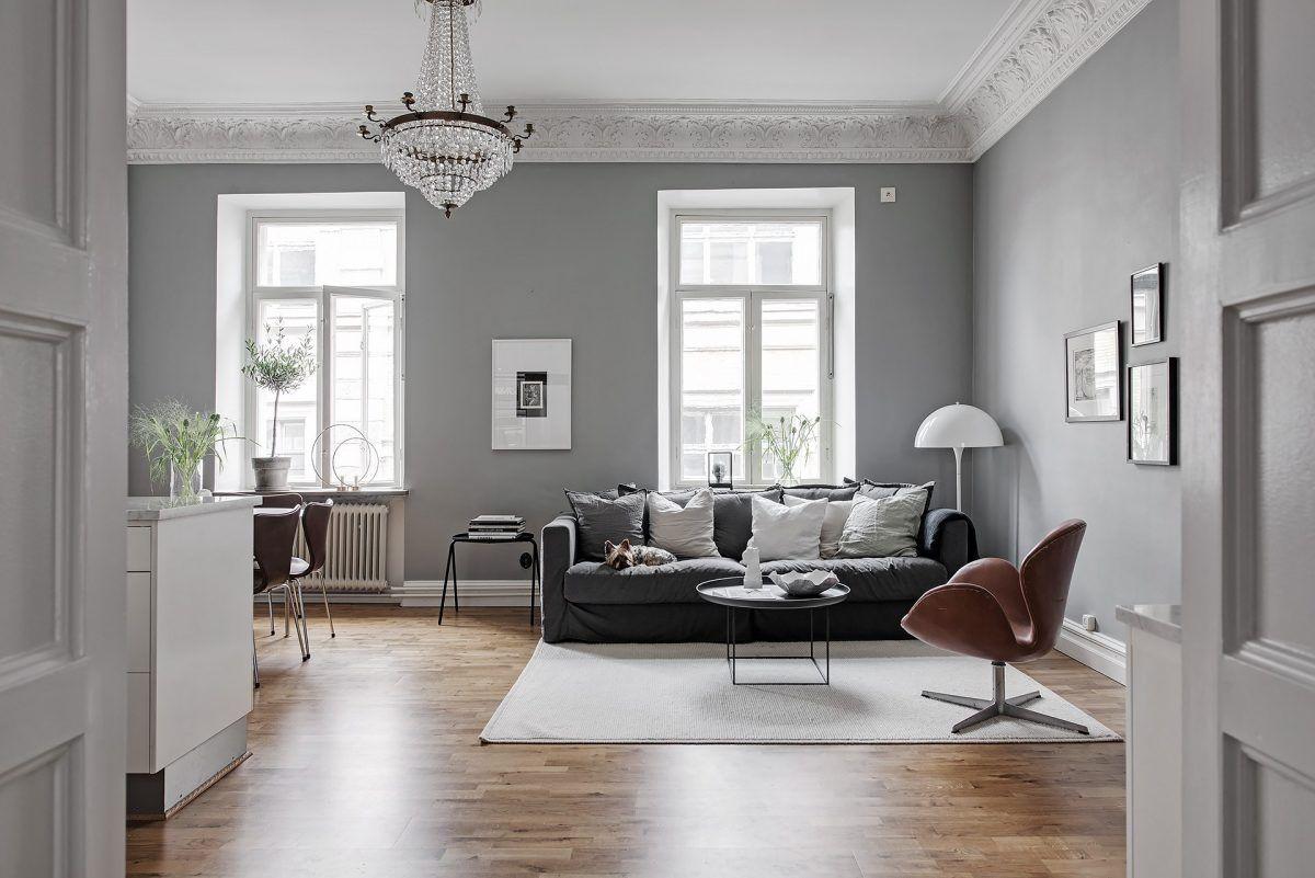 Pareti grigie casa muro living room grey living room for Soggiorno moderno grigio e bianco