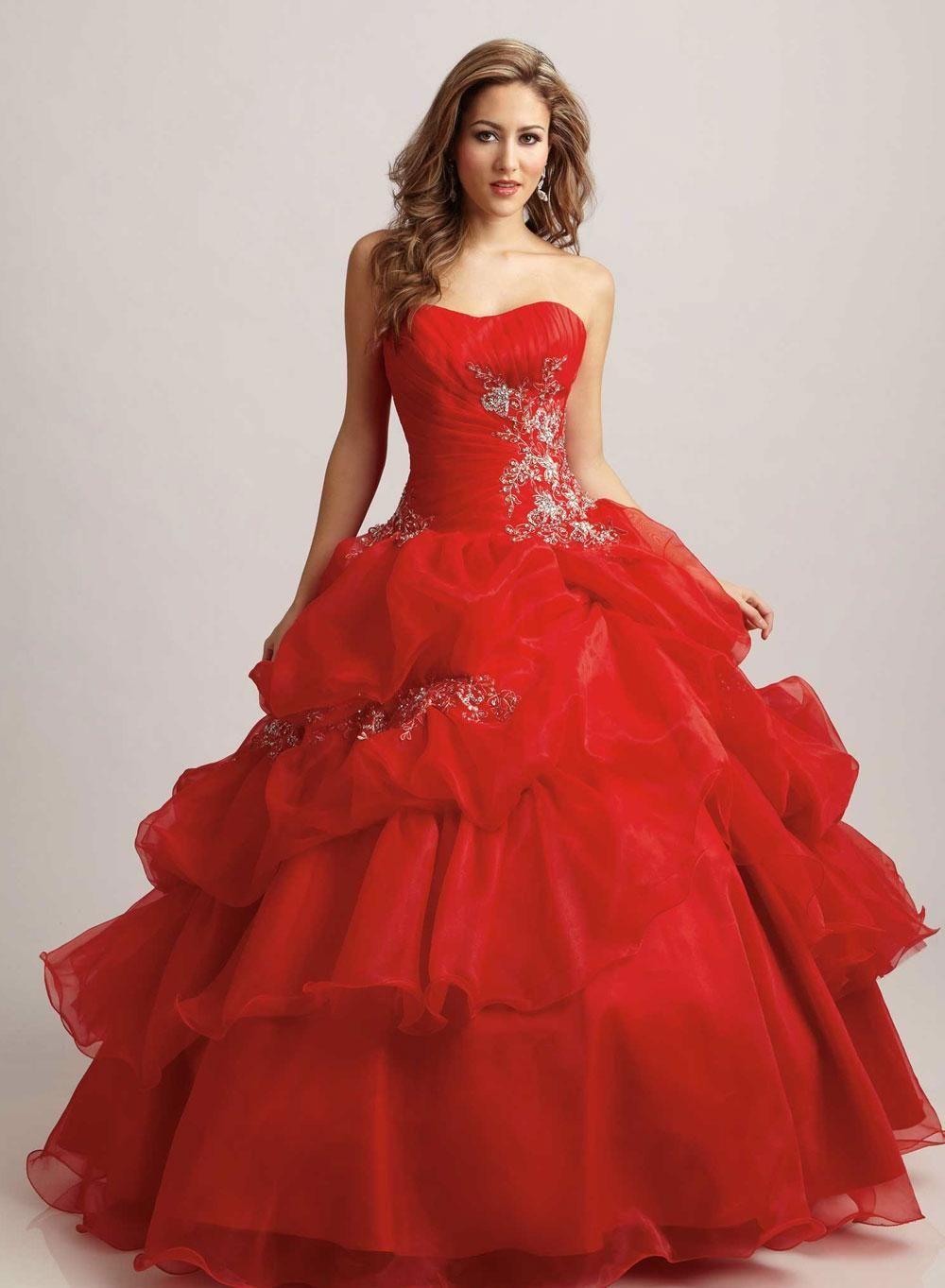 Vestidos rojos de XV años 20154