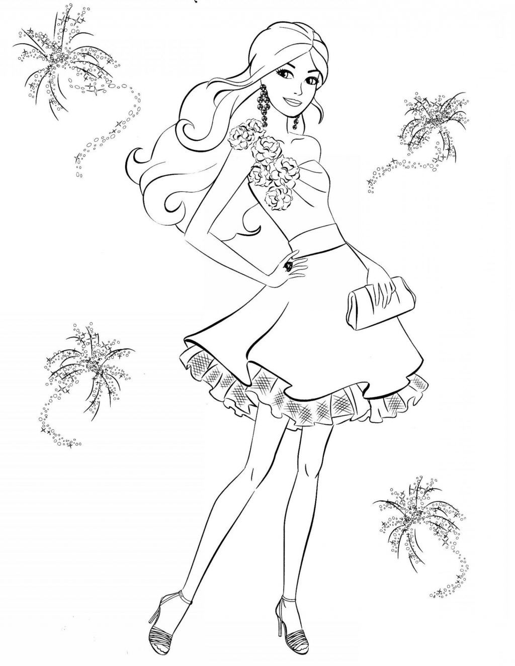 Barbie Coloring Sheets Printable In 2020 Barbie Coloring Pages Coloring Pages For Girls Cute Coloring Pages
