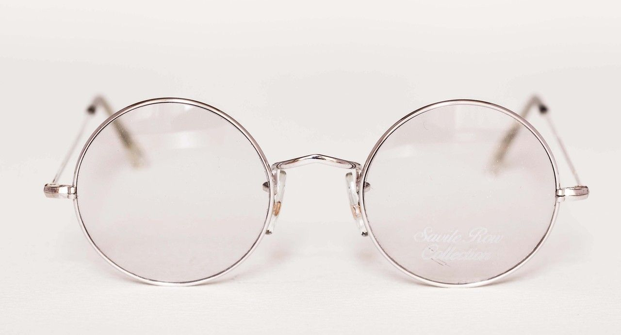 6bf7951618f8 VINTAGE SAVILE ROW Glasses in Silver Finish 14k Rolled Gold Round Frames  44mm Rims