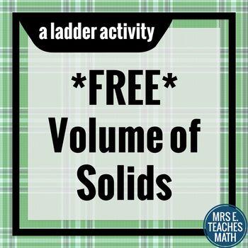Volume of Solids Ladder Activity by Mrs E Teaches Math | Teachers ...