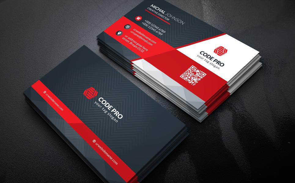 black coporate business card corporate identity template