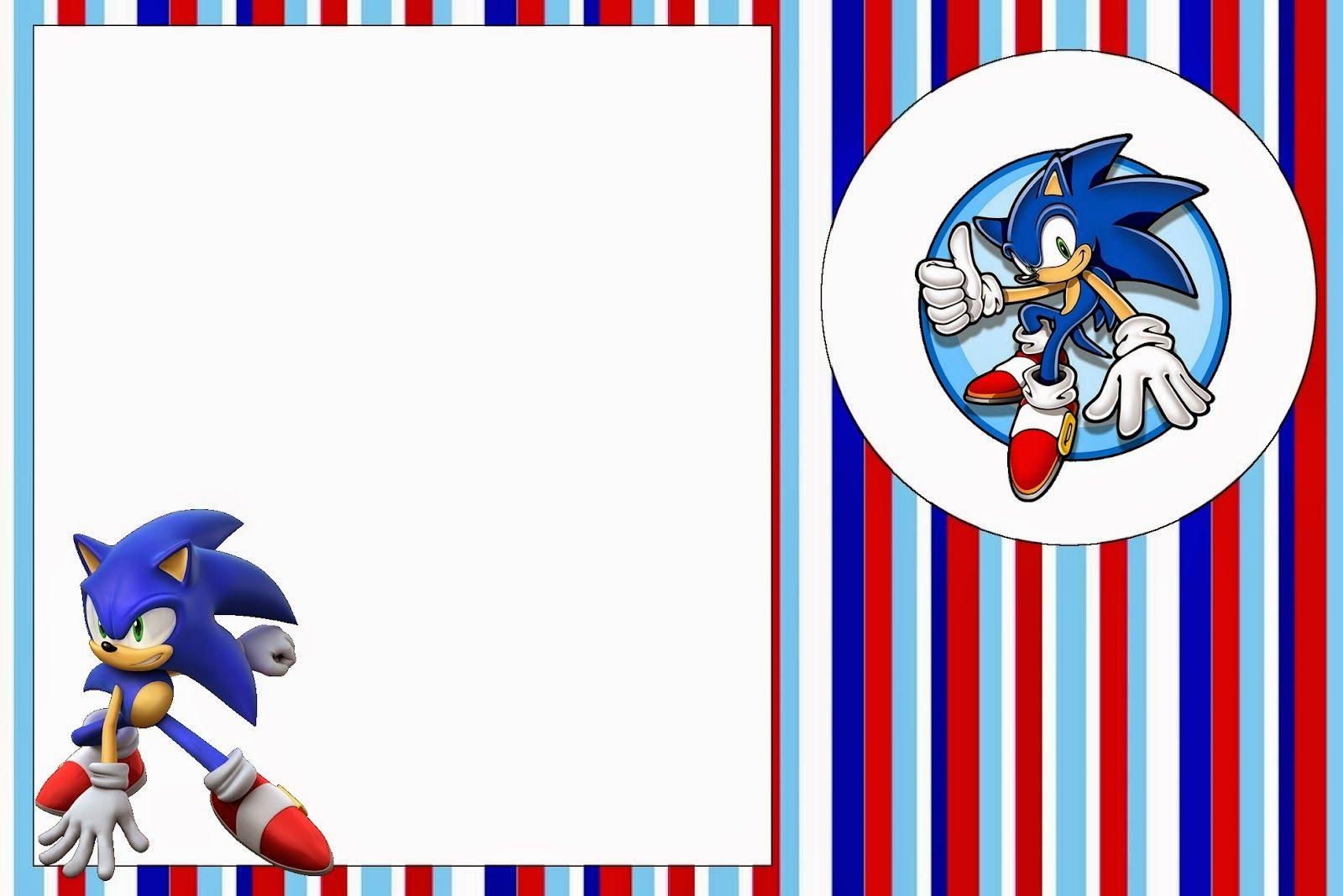 Sonic Invitaciones Para Imprimir Gratis Free Printable Invitations Sonic Birthday Sonic Party