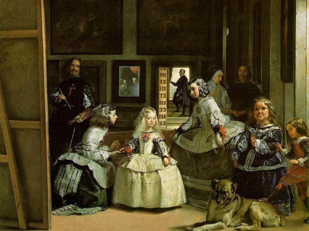 Las Meninas de Velázquez, posee propiedades estéticas positivas, como la belleza y la elegancia al representar a la realeza española, es intelectualmente desafiante, al encontrarse retratado el pintor dentro de la obra, pintándola. Además de estar sometida a un lenguaje crítico de juicio y apreciación
