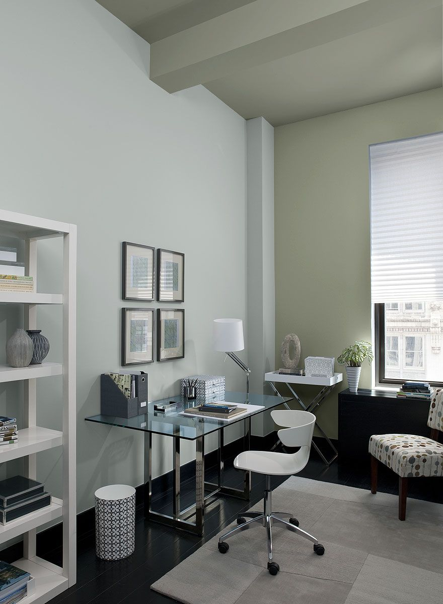 interior paint ideas and inspiration gray home offices on color ideas for home office id=66427