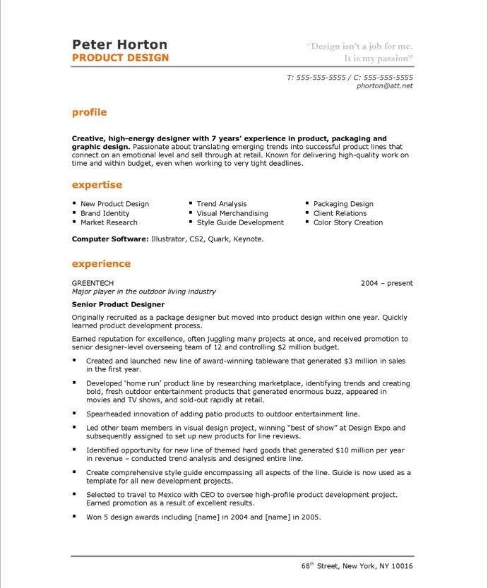 Product Designer Page1 Free Resume Samples Graphic Design