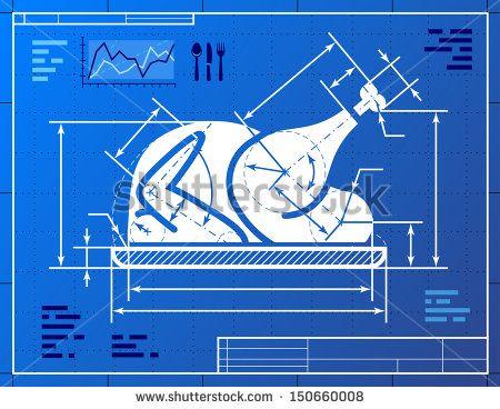 Christmas turkey symbol like blueprint drawing stylized drawing of christmas turkey symbol like blueprint drawing stylized drawing of roast turkey on blueprint paper malvernweather Choice Image