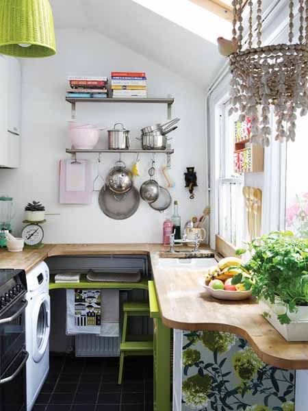 use window as table for small kitchen