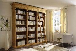 Bibliothek Pinie Massiv Geolt Landhausstil Baltic 01010255