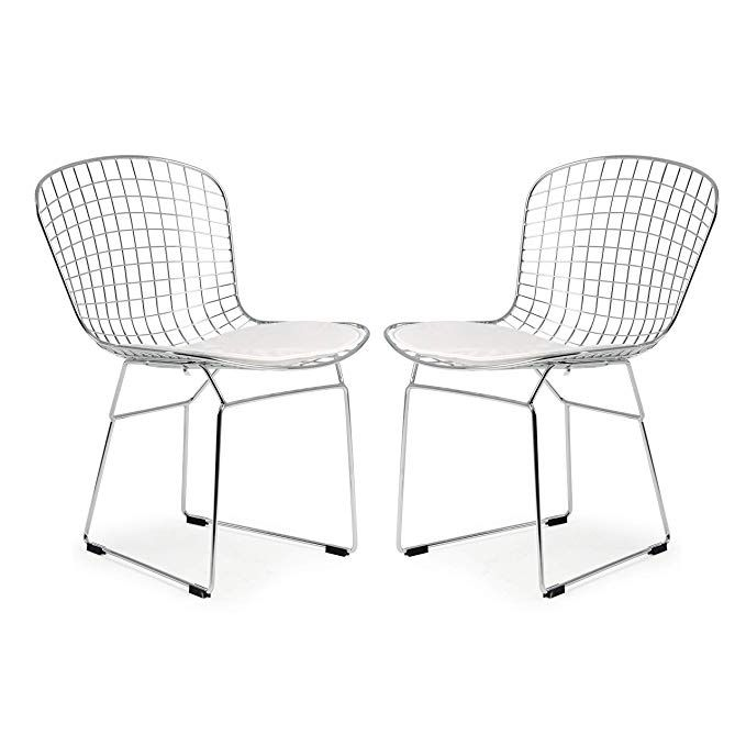 Groovy Poly And Bark Morph Side Chair In White Set Of 2 Bralicious Painted Fabric Chair Ideas Braliciousco