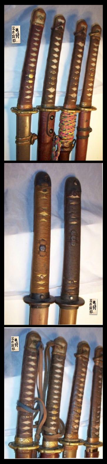 Gendaito and Gunto katanas, Showa period. WWII swords.                                                                                                                                                                                 More