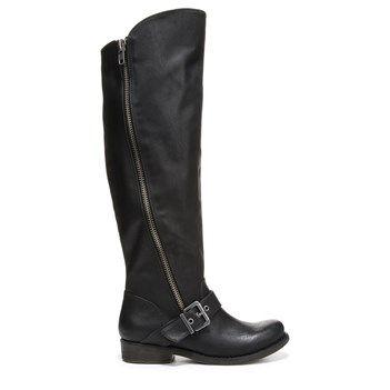 Womens Boots CARLOS by Carlos Santana Gramercy Wide Shaft Black