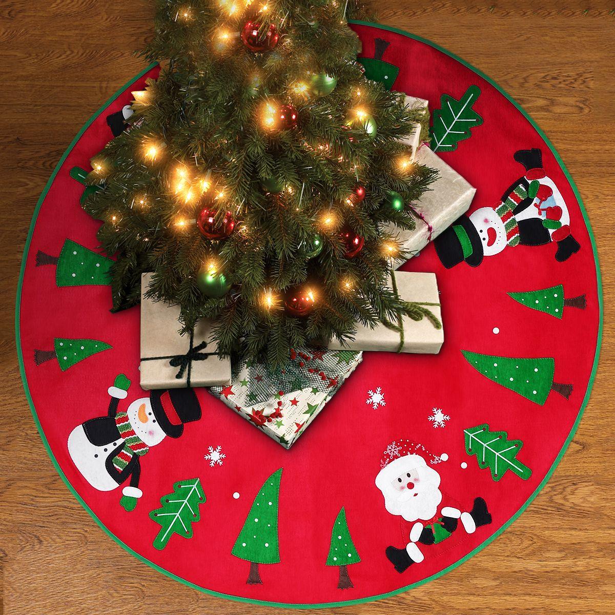 Christmas Tree Skirt Reindeer, Snowman, Christmas Tree