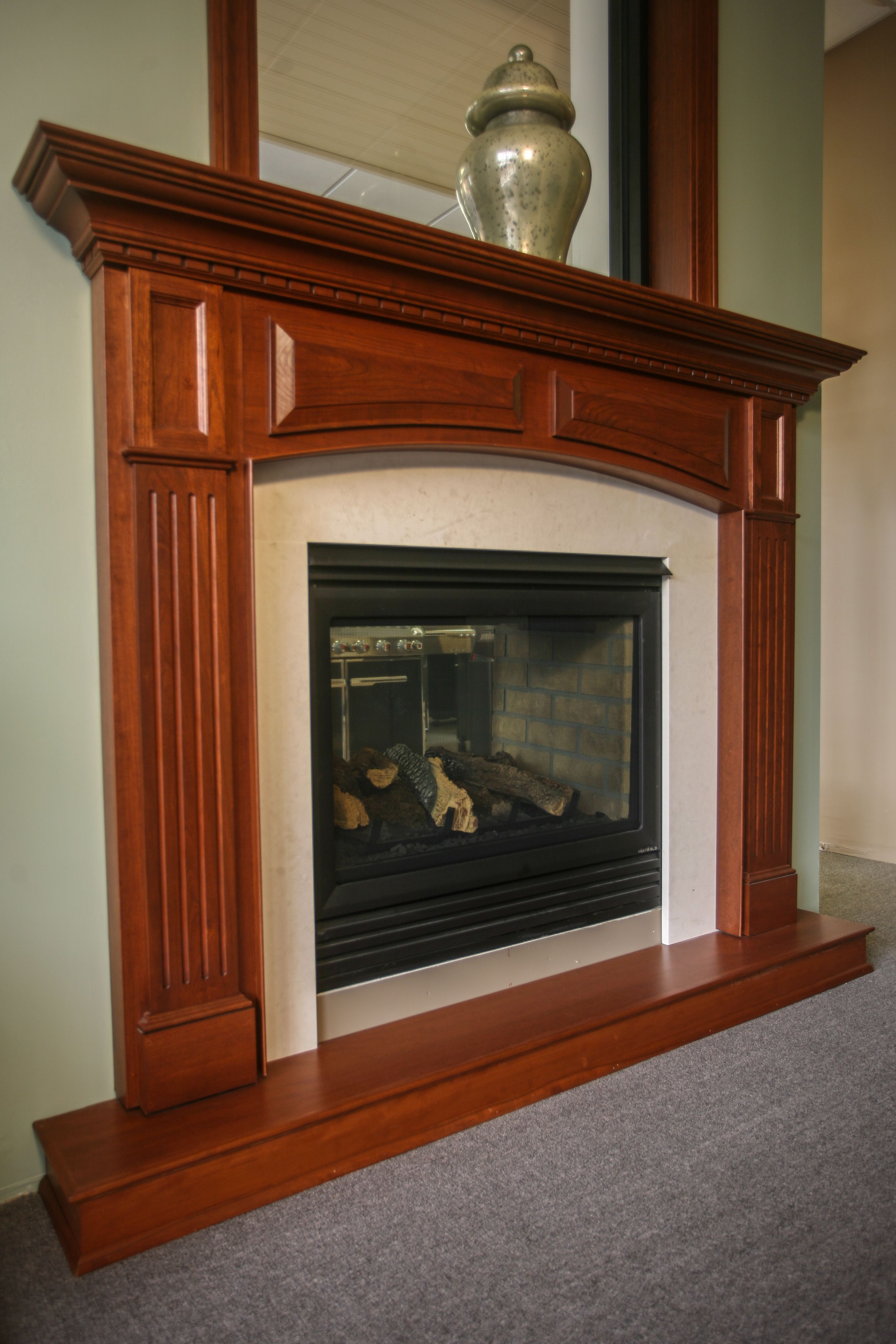 Cherry Fireplace Mantels Traditional Mantel Cherry Finished Fireplace Mantels Fireplace