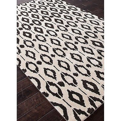 Hand-tufted Contemporary Geometric Gray/ Black Leopard Accent Area Rug (5' x 8') $440
